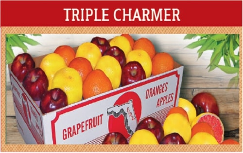Triple Charmer: 12 Each of Navels, Grapefruit & Apples